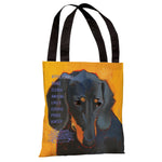 Daschund 3  Tote Bag by Ursula Dodge