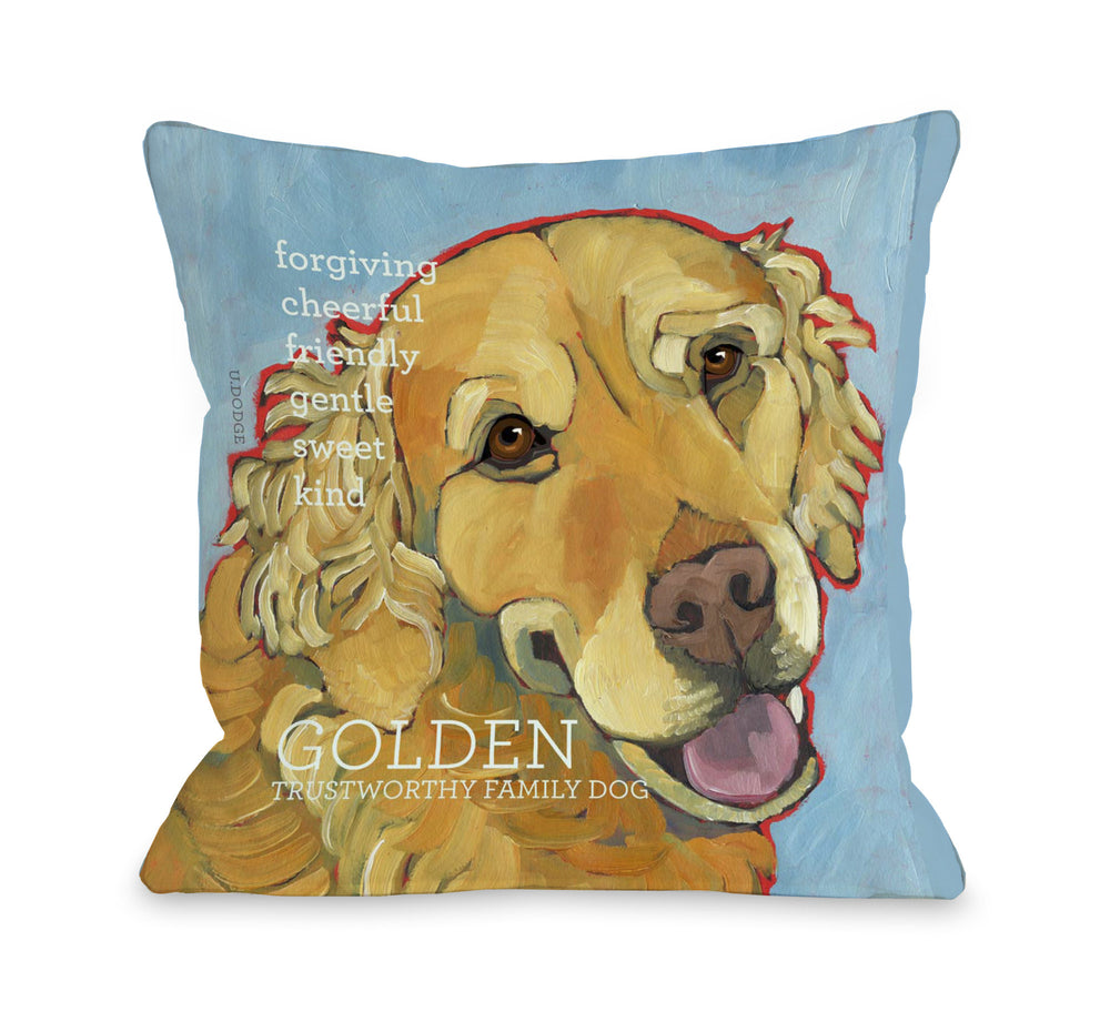 Golden Retriever 1 by OneBellaCasa Affordable Home D_cor