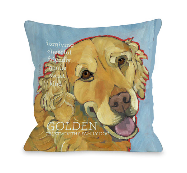 Golden Retriever 1 Throw Pillow by Ursula Dodge