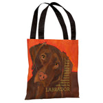 Labrador 2  Tote Bag by Ursula Dodge