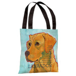 Labrador 3  Tote Bag by Ursula Dodge