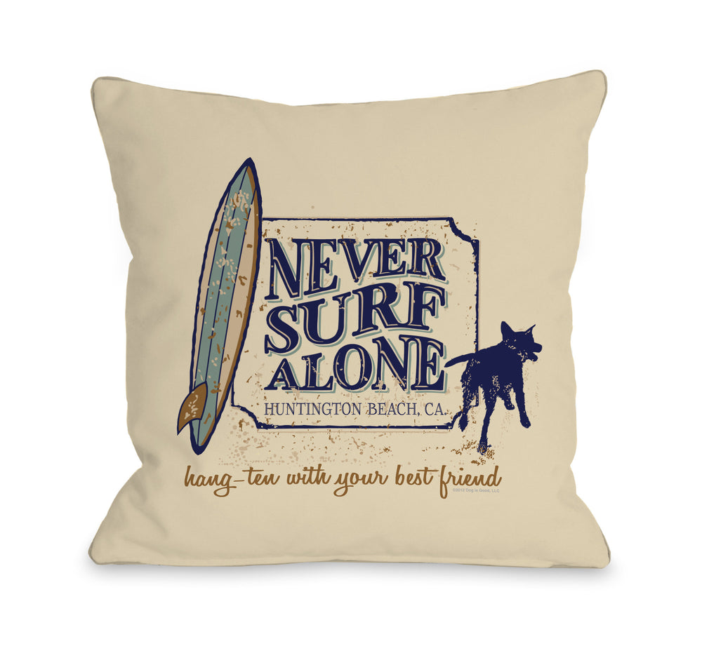 Never Surf Alone - Creamby OneBellaCasa Affordable Home D_cor