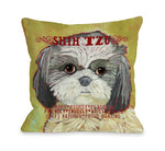 Shih Tzu 2 Throw Pillow by Ursula Dodge