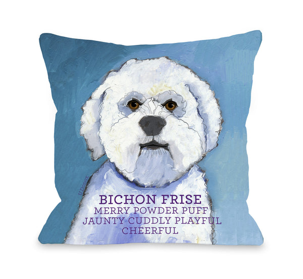 Bichon Frise 1 Throw Pillow by Ursula Dodge