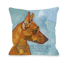 Miniature Pinscher 2by OneBellaCasa Affordable Home D_cor