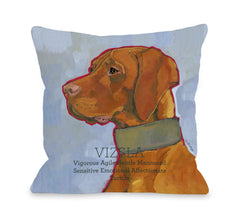 Vizsla 1 Throw Pillow by Ursula Dodge