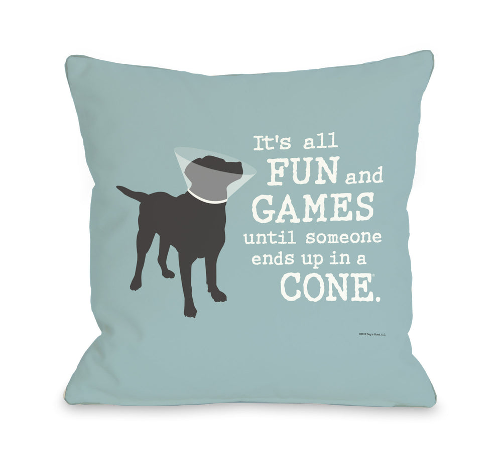 Its All Fun and Games - Blue Grayby OneBellaCasa Affordable Home D_cor