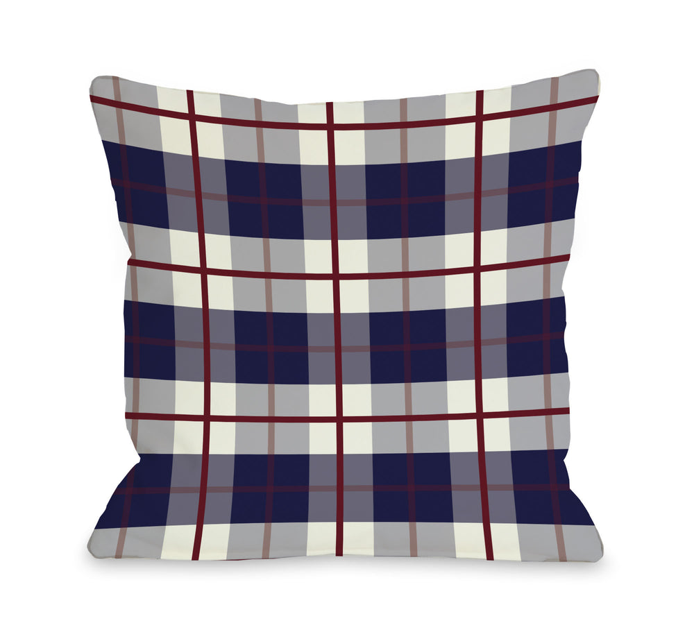 American Plaid Throw Pillow by OBC