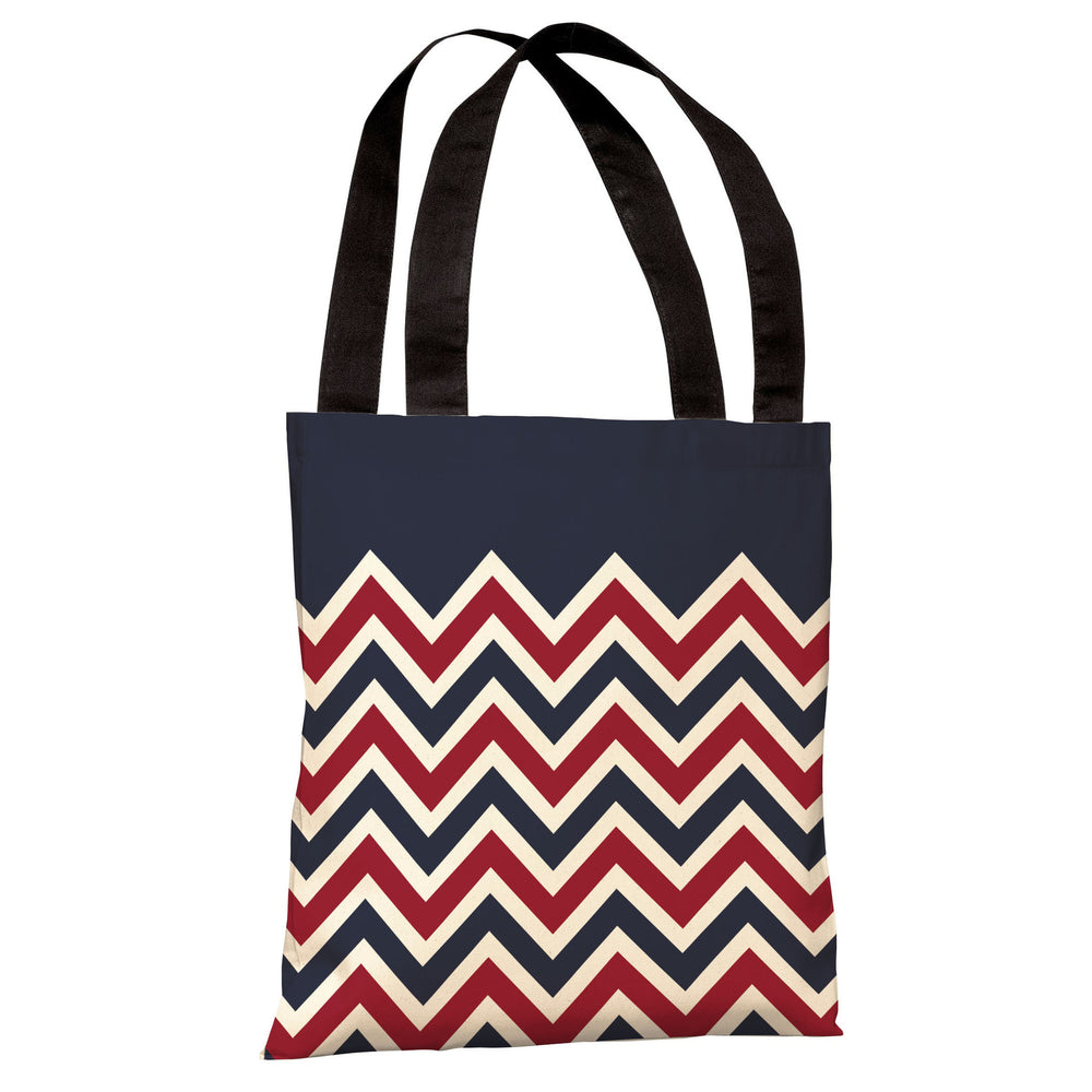 Chevron Solid American Tote Bag by OBC