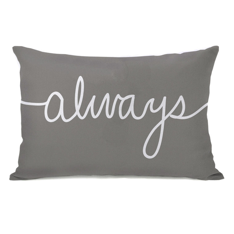 Always Mix & Match - Gray Throw Pillow by OBC