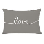 Love Mix & Match - Gray Throw Pillow by OBC