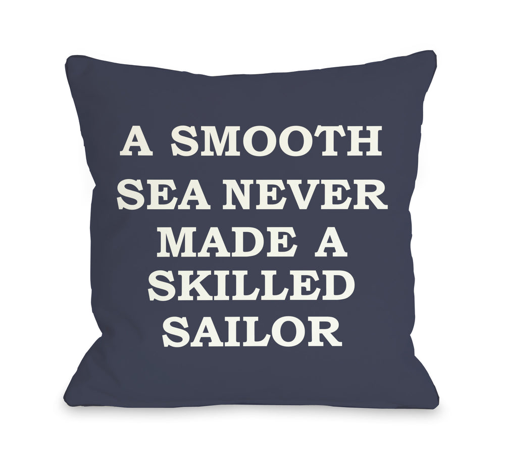 A Smooth Sea Throw Pillow by OBC