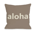 Aloha Outdoor Throw Pillow by OBC