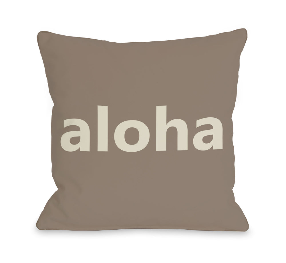 Aloha Throw Pillow by OBC
