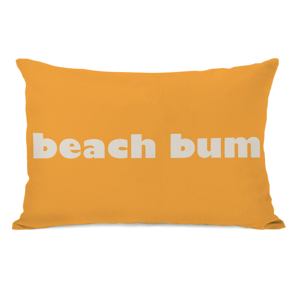 Beach Bum Outdoor Throw Pillow by OBC