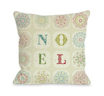 Boho Noel Throw Pillow by OBC