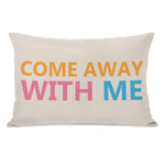 Come Away With Me Outdoor Throw Pillow by OBC