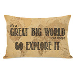 Great Big World Map Throw Pillow by OBC
