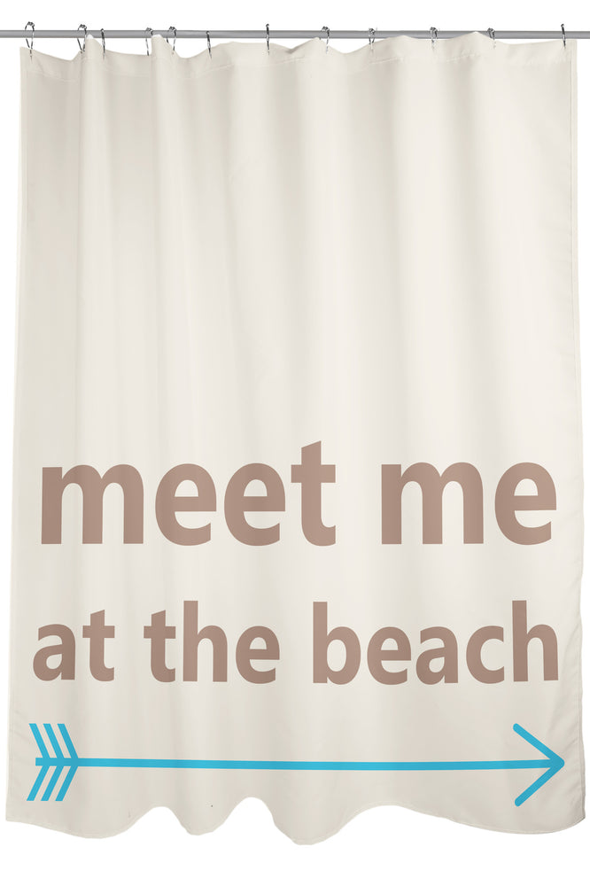 Meet Me at the Beach Shower Curtain by OBC