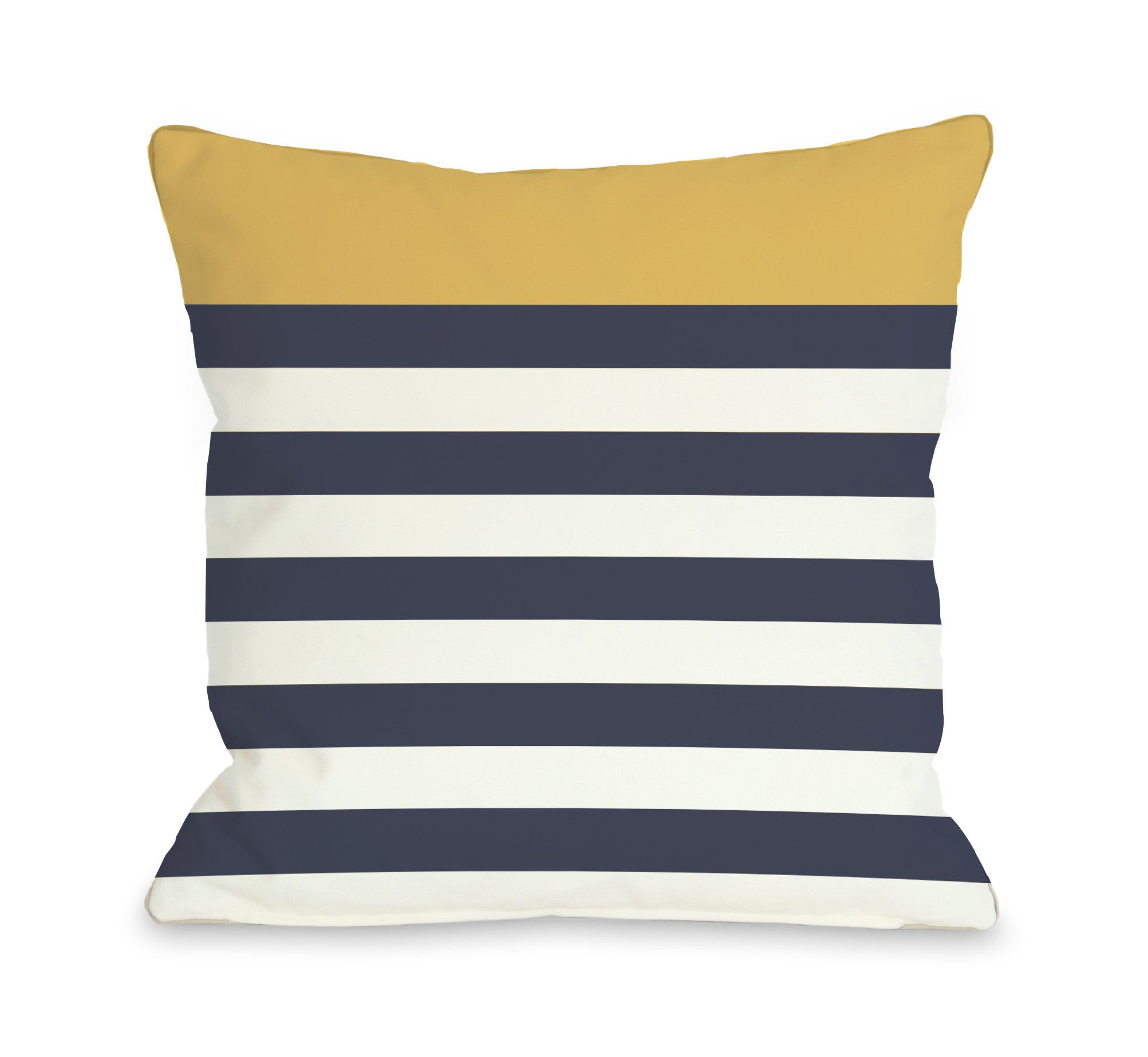 Nautical Stripes - Mimosa Outdoor Throw Pillow by OBC
