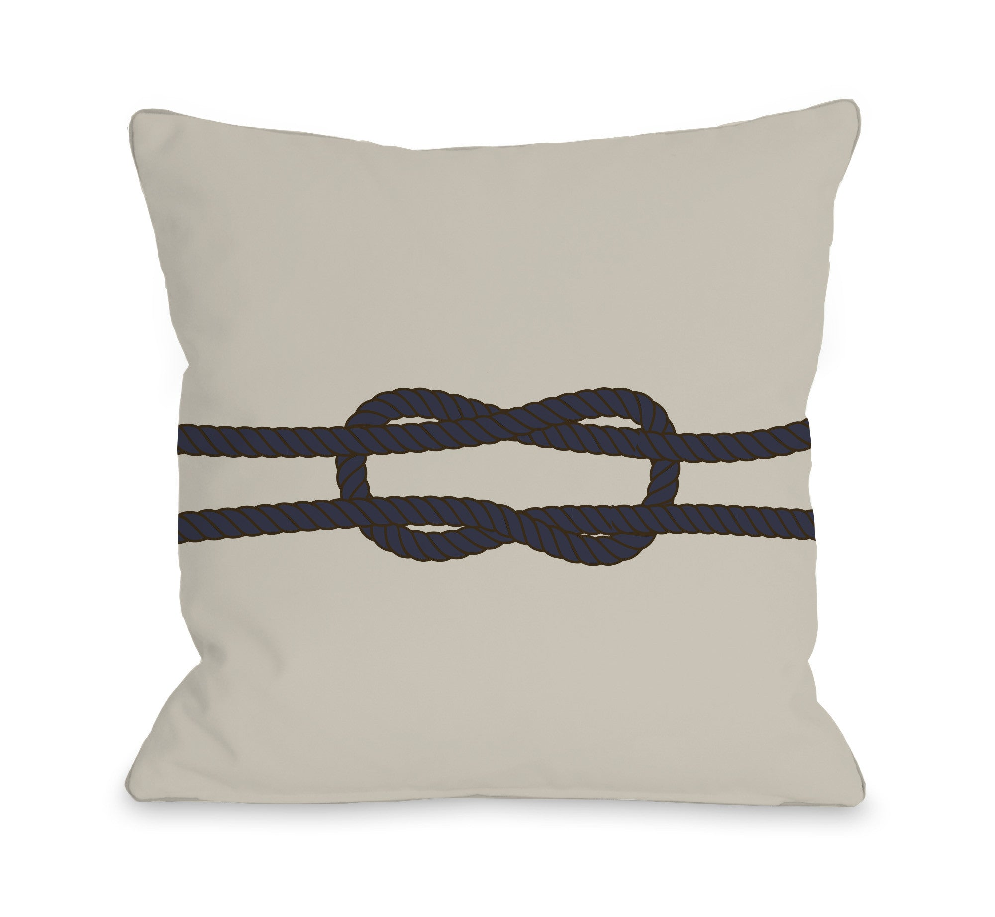 Square Knot Throw Pillow by OBC