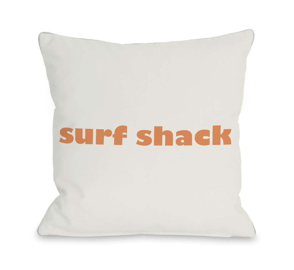 Surfs Shack Throw Pillow by OBC