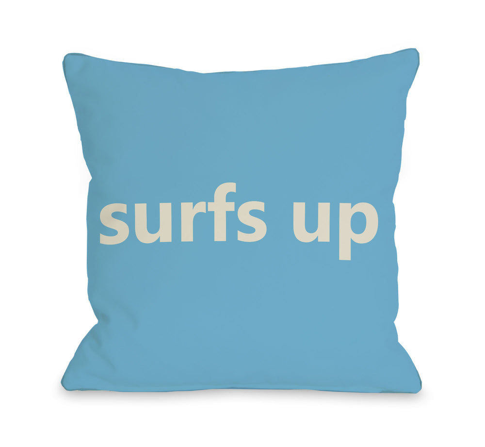 Surfs Up Throw Pillow by OBC