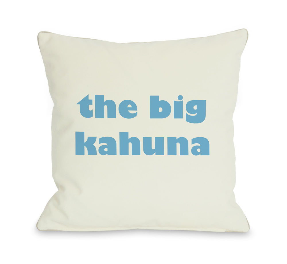The Big Kahuna Throw Pillow by OBC