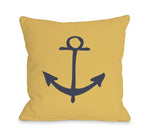 Vintage Anchor - Mimosa Outdoor Throw Pillow by OBC