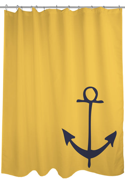 Vintage Anchor - Mimosa Shower Curtain by OneBellaCasa.com