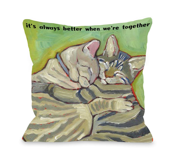Better Together Throw Pillow by Ursula Dodge