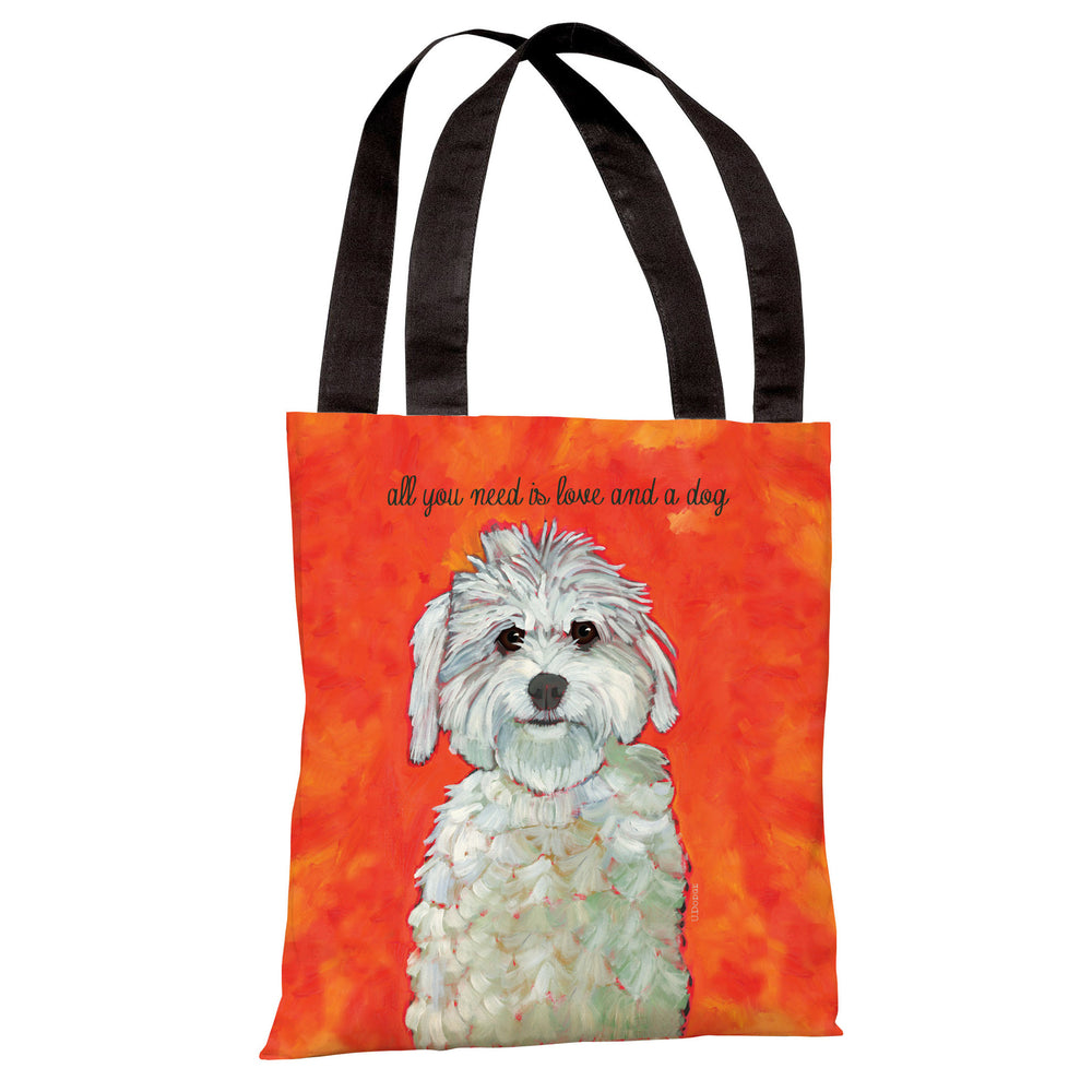 Love & A Dog Tote Bag by Ursula Dodge