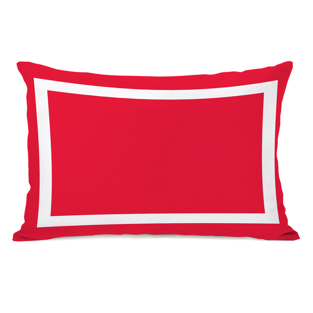 Samantha Simple Square - Bright Red Outdoor Throw Pillow by OBC