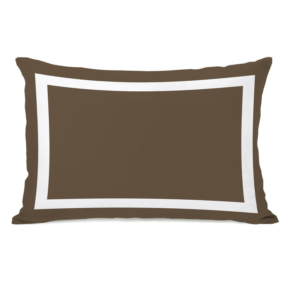 Samantha Simple Square - Coffee Brown Outdoor Throw Pillow by OBC