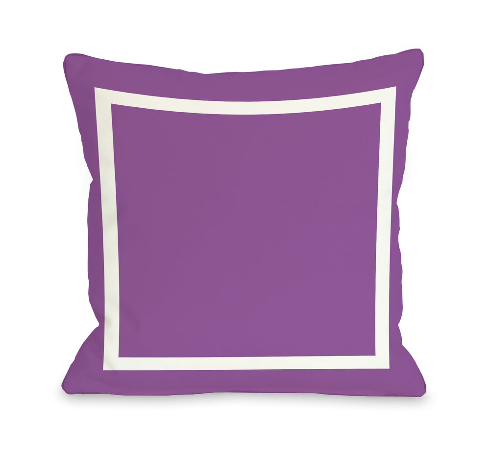 Samantha Simple Square - Purple Outdoor Throw Pillow by OBC
