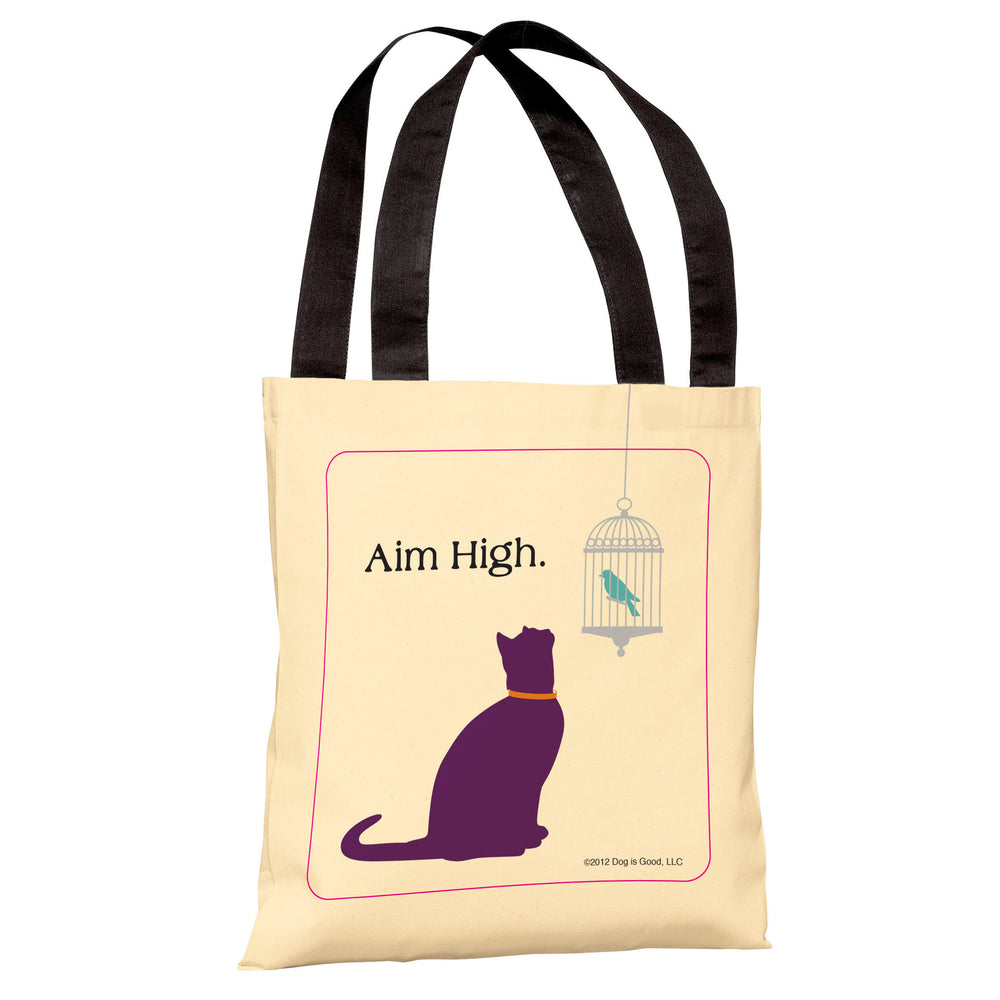 Aim High Cat  Tote Bag by Dog is Good