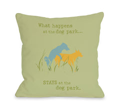 Dog Park - Green Yellow Blueby OneBellaCasa Affordable Home D_cor