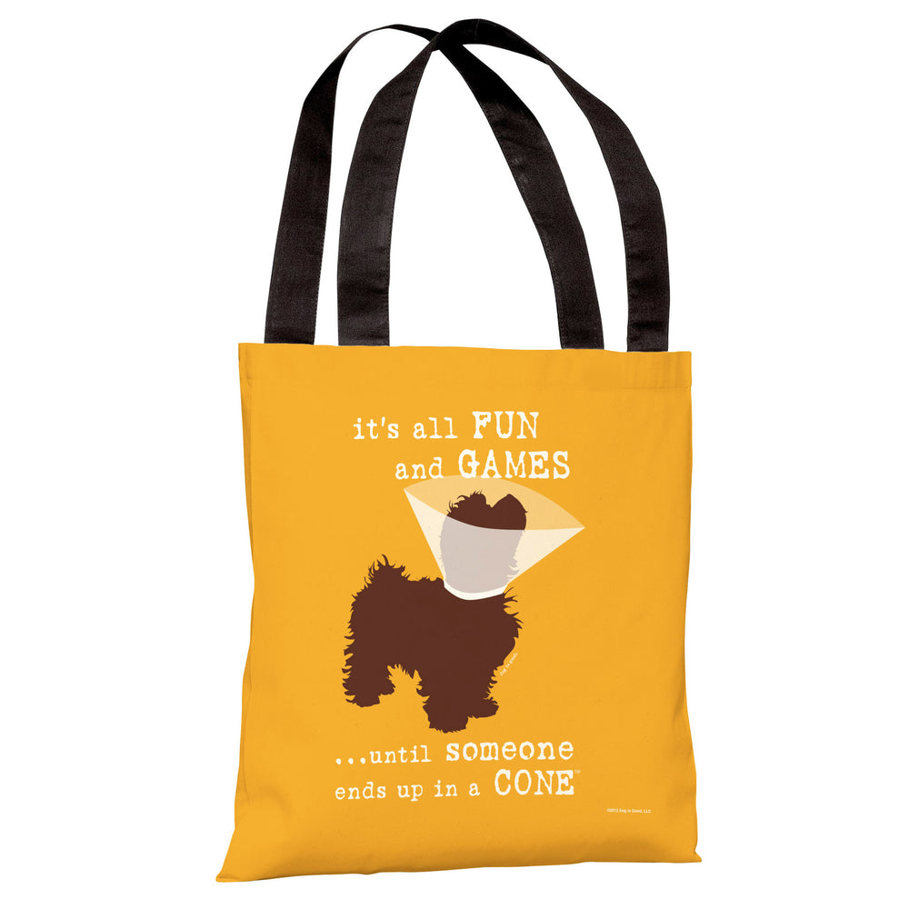 Fun and Games Small Tote Bag by Dog is Good