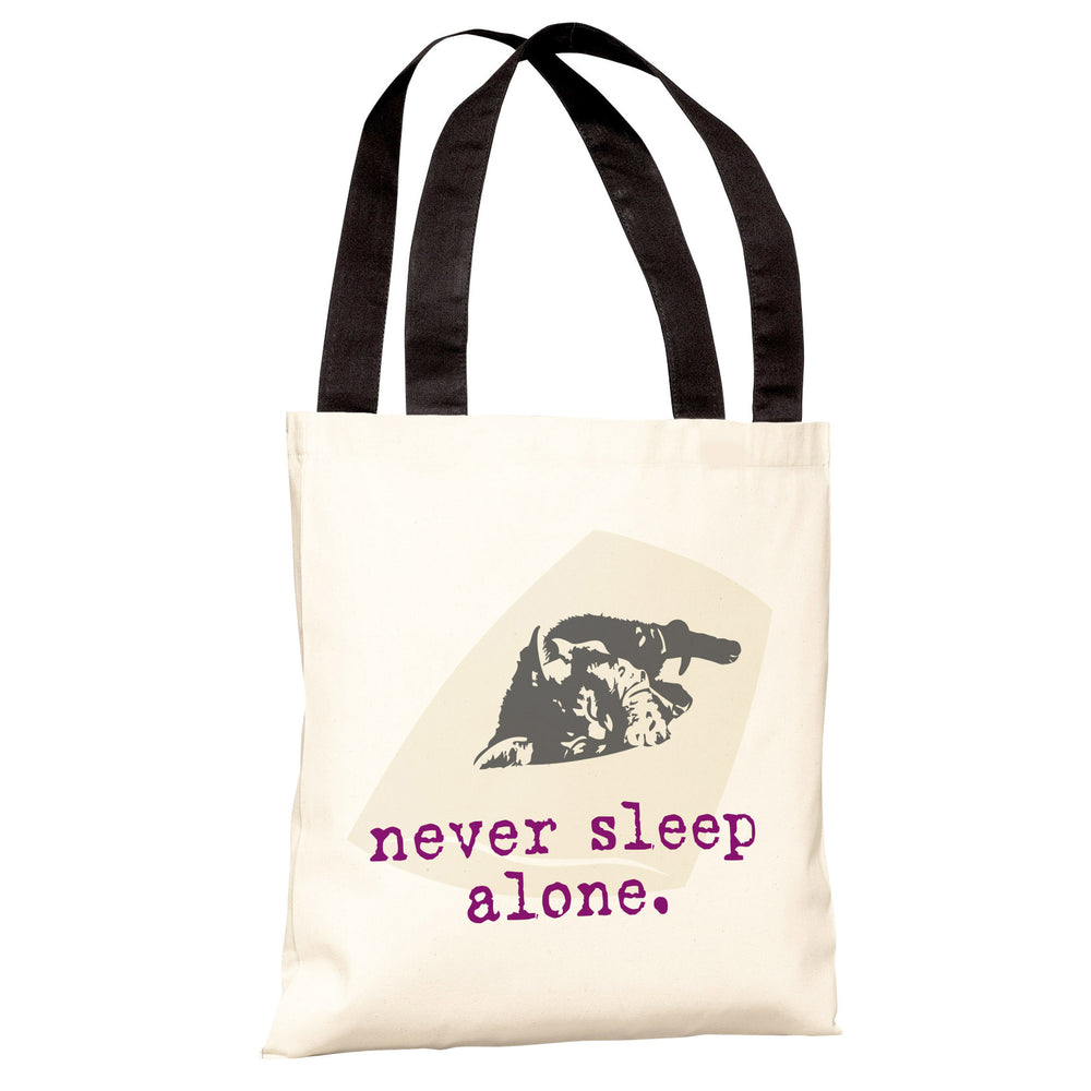 Never Sleep Alone Cat Tote Bag by Dog is Good