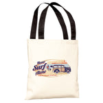 Never Surf Alone Car Tote Bag by Dog is Good
