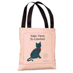 Unwind Cat Tote Bag by Dog is Good