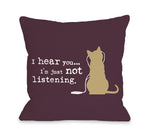 Not Listening Catby OneBellaCasa Affordable Home D_cor