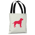 Lab Silhouette - Ivory Lipstick Red Tote Bag by OBC