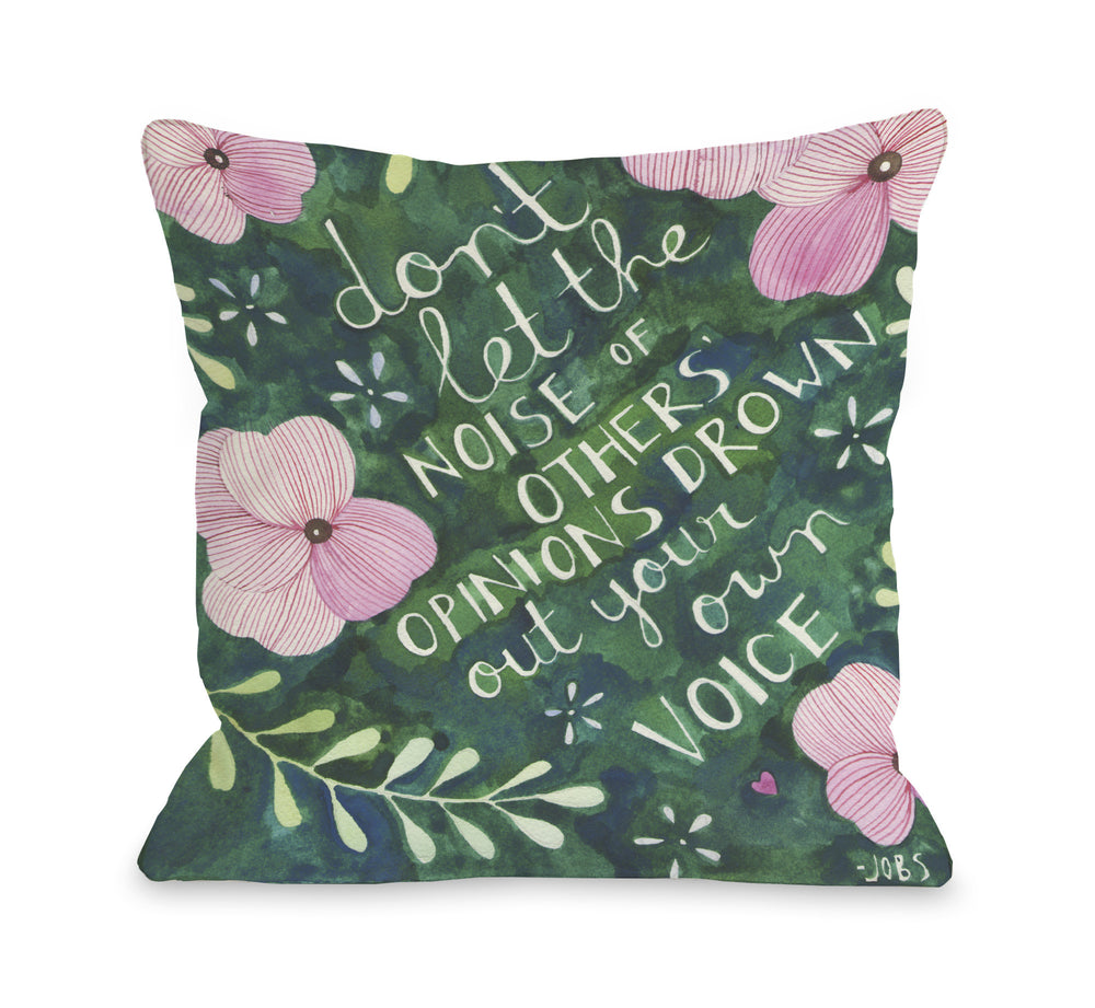 Your Own Voice  Throw Pillow by Ana Victoria Calderon