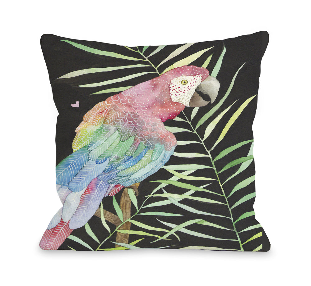 Parrot  Throw Pillow by Ana Victoria Calderon