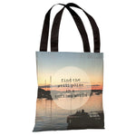 Find a Still Point Harbor Photo  Tote Bag by OBC