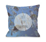 Keep Swimming Fish Photo  Outdoor Throw Pillow by OBC