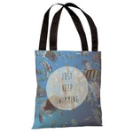 Keep Swimming Fish Photo  Tote Bag by OBC