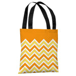 Chevron Solid - Candycorn Colors Tote Bag by OBC