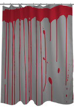 Dripping Blood - Gray Red Shower Curtain by OBC